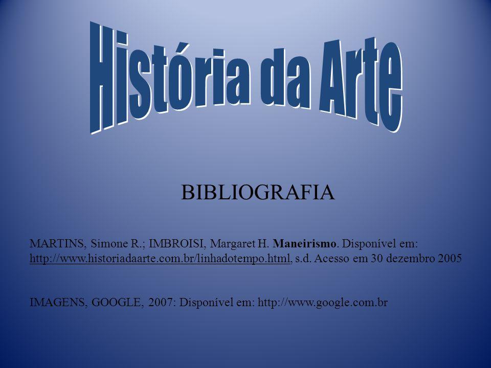 História da Arte BIBLIOGRAFIA