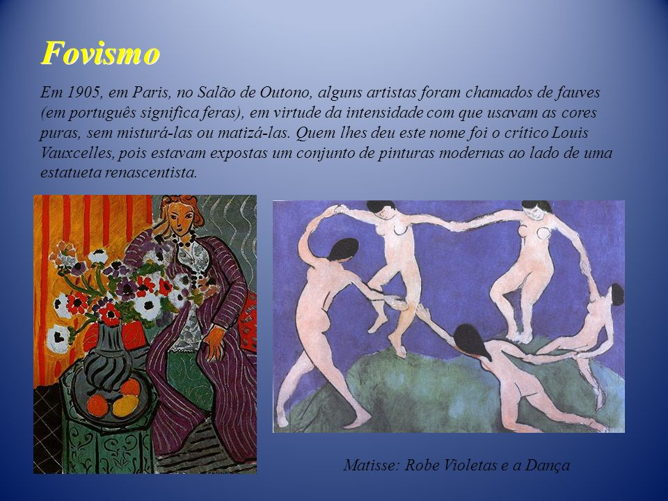Matisse: Robe Violetas e a Dança