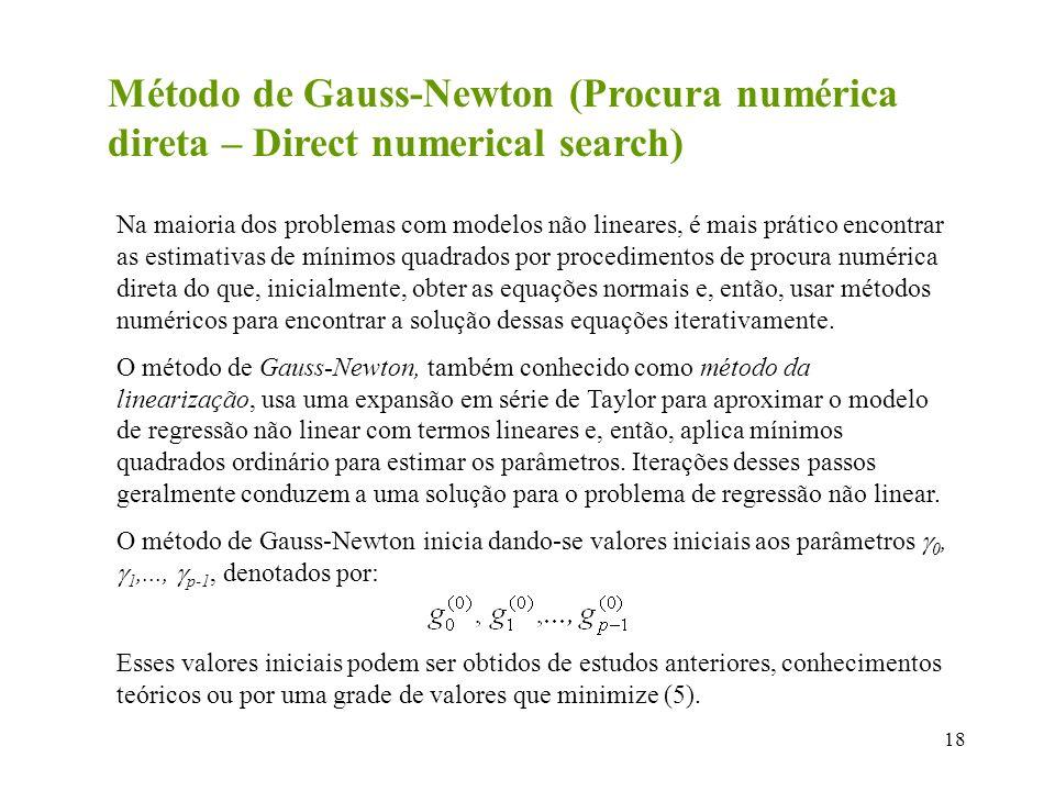 Método de Gauss-Newton (Procura numérica direta – Direct numerical search)