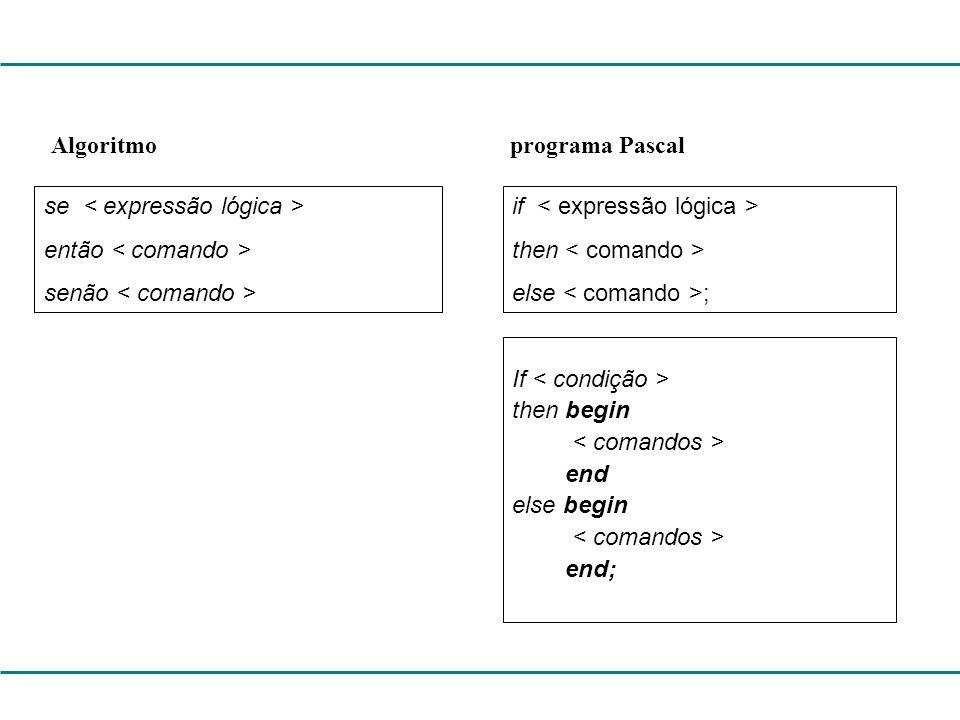 Algoritmo programa Pascal