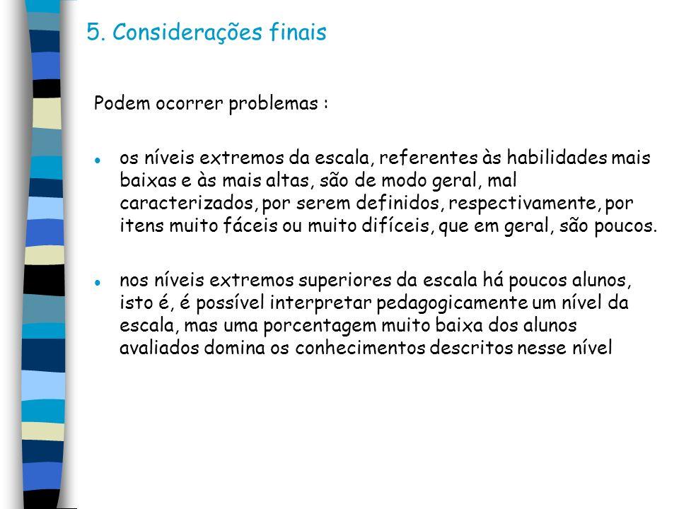 5. Considerações finais Podem ocorrer problemas :