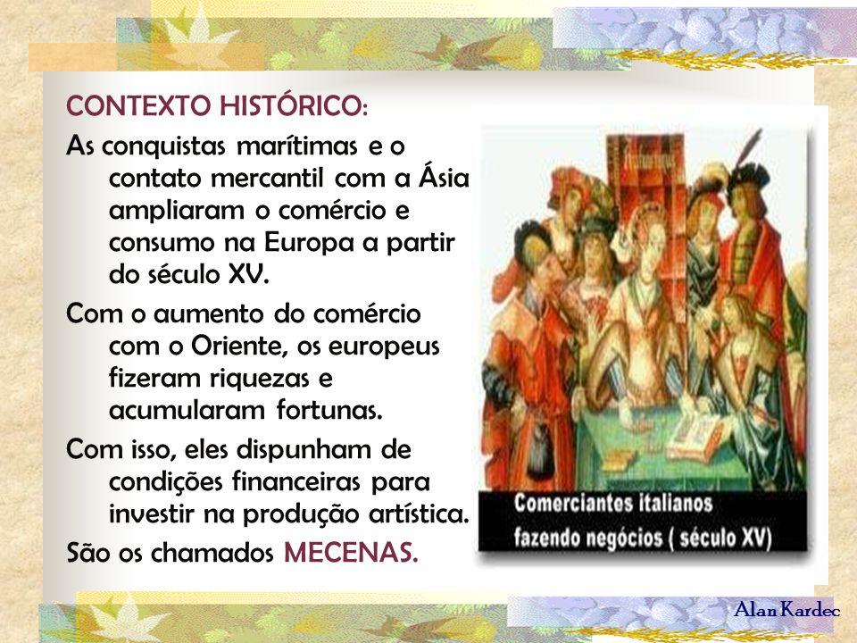 CONTEXTO HISTÓRICO: As conquistas marítimas e o contato mercantil com a Ásia ampliaram o comércio e consumo na Europa a partir do século XV.