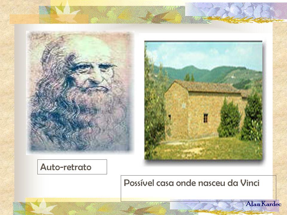 Auto-retrato Possível casa onde nasceu da Vinci