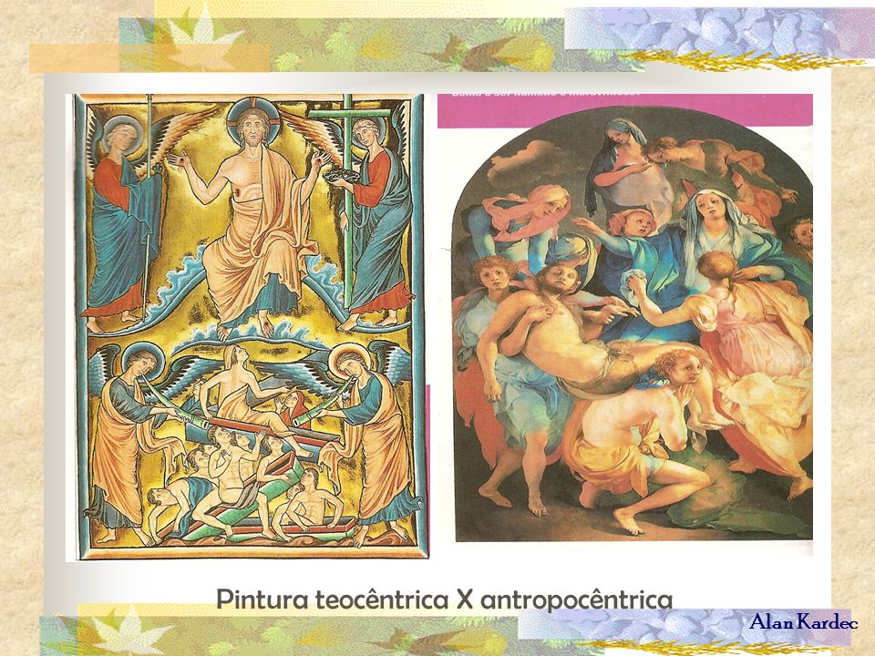 Pintura teocêntrica X antropocêntrica