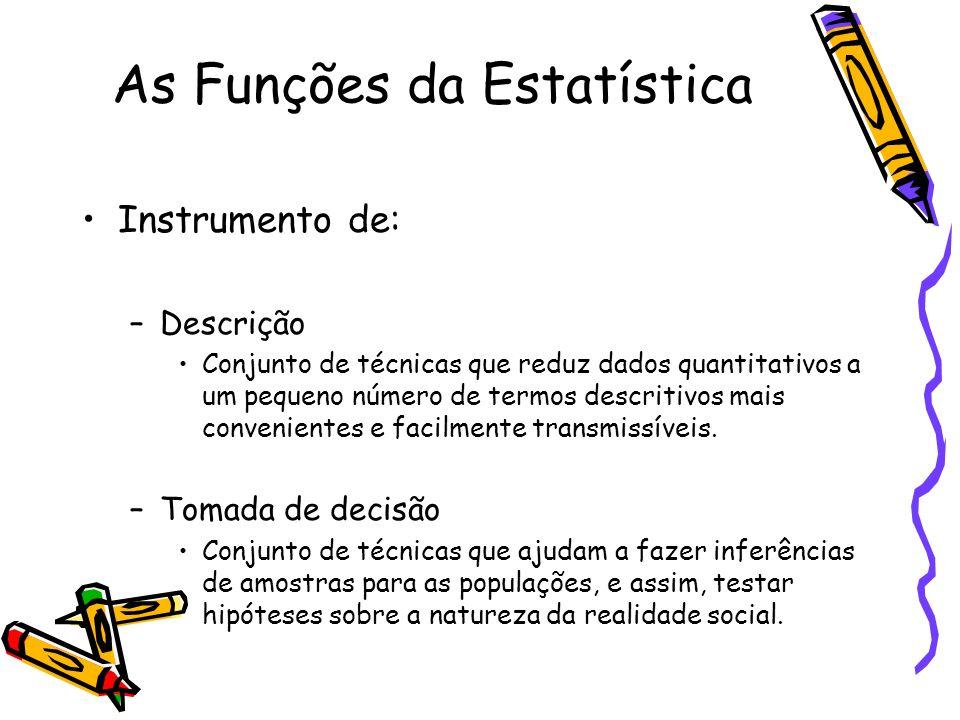 As Funções da Estatística