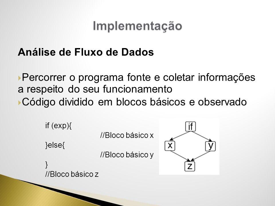 Implementação Análise de Fluxo de Dados