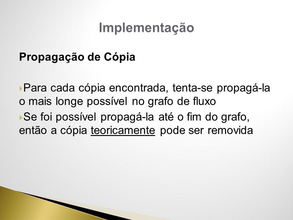 Implementação Propagação de Cópia