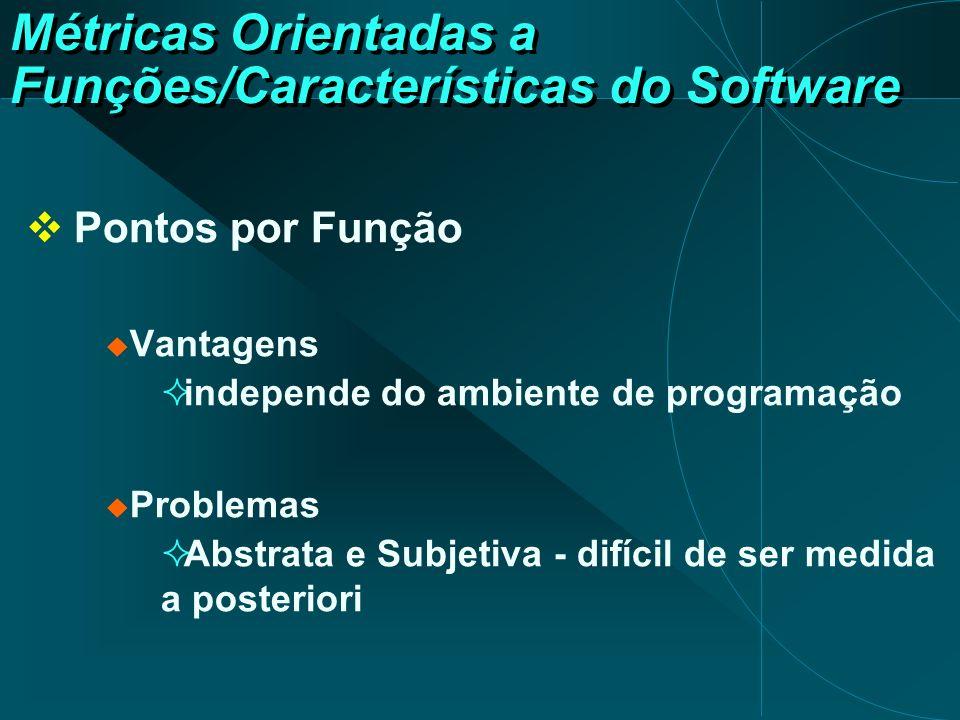 Métricas Orientadas a Funções/Características do Software