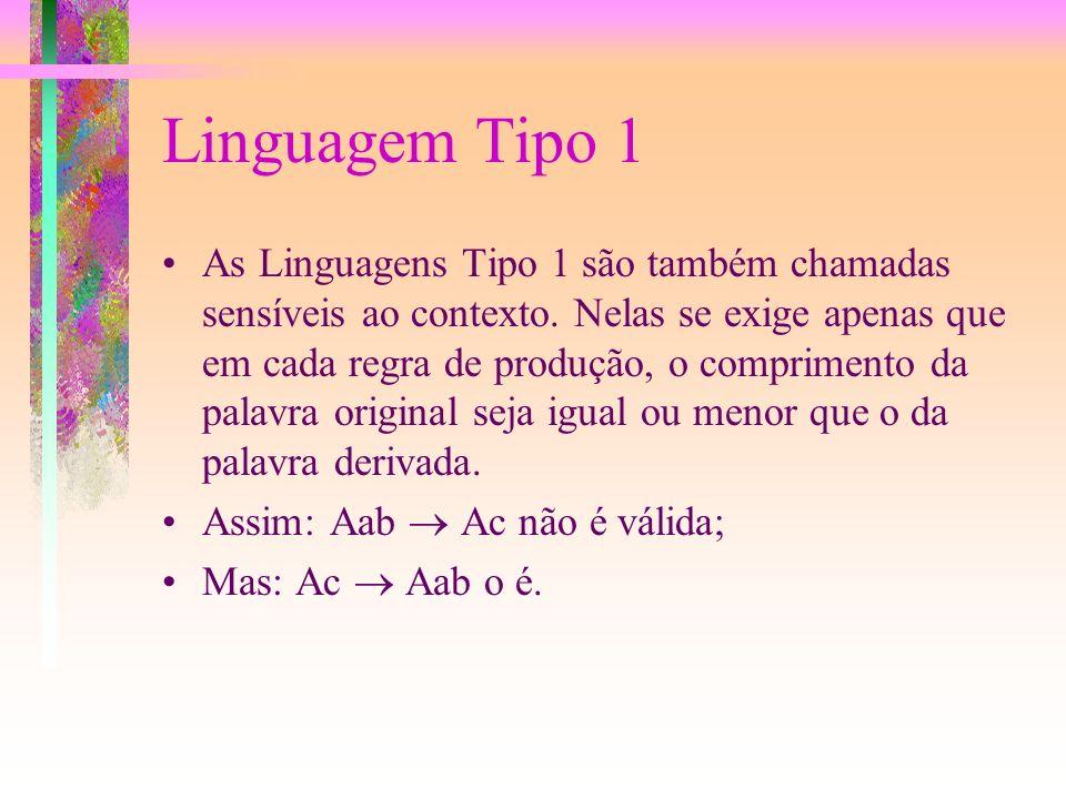 Linguagem Tipo 1