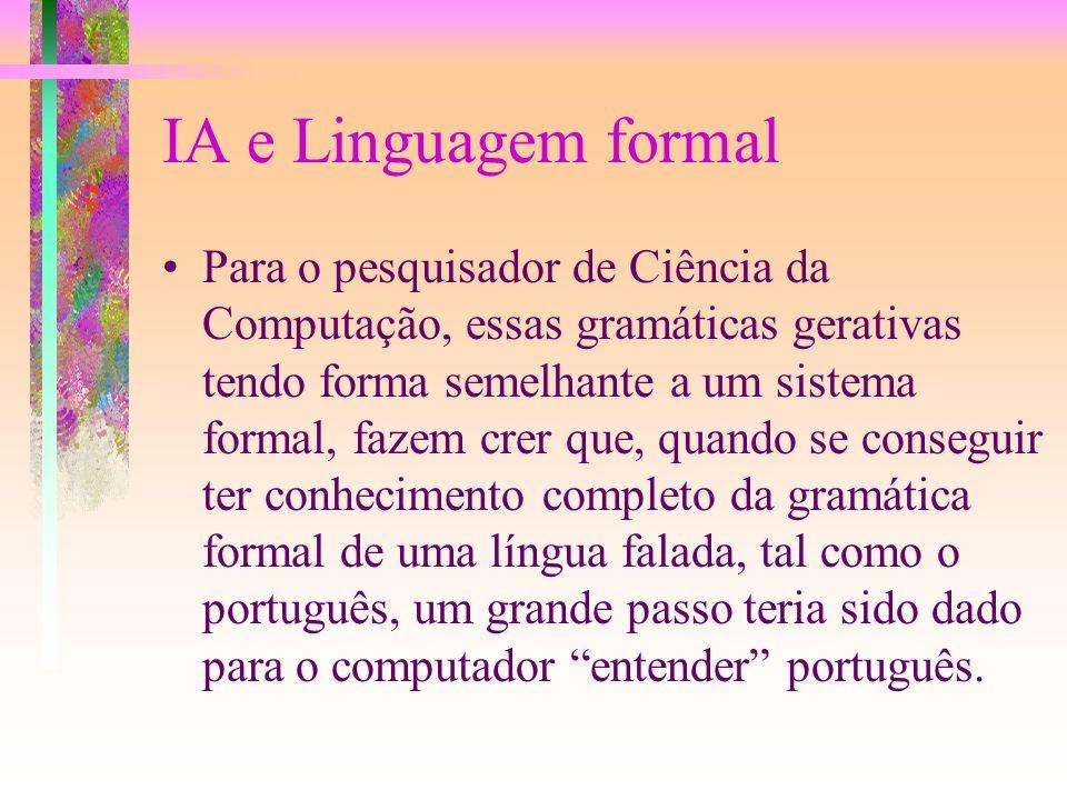 IA e Linguagem formal