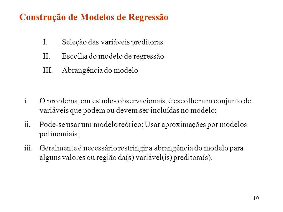 Construção de Modelos de Regressão