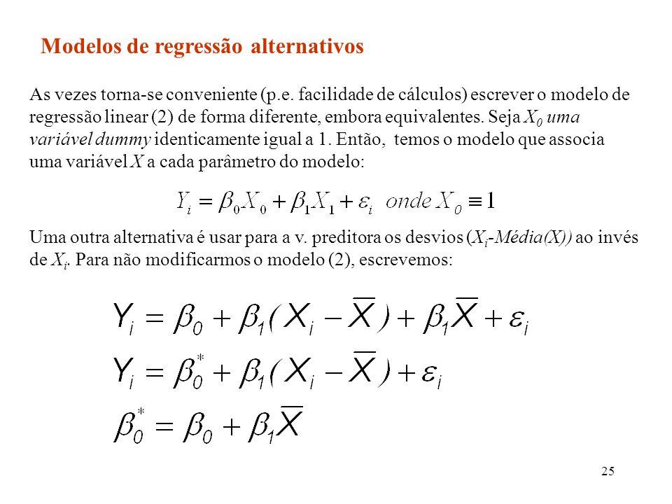 Modelos de regressão alternativos