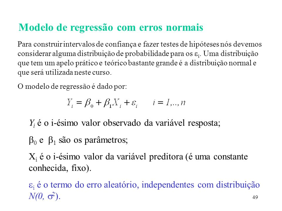Modelo de regressão com erros normais