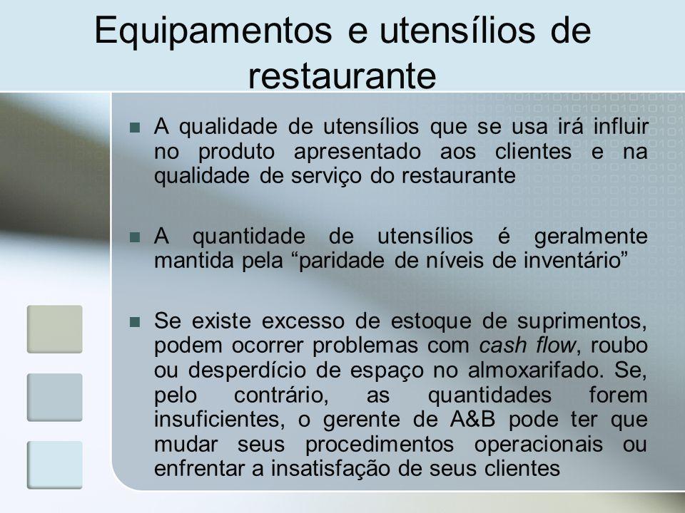 Equipamentos e utens lios ppt carregar for Utensilios de restaurante