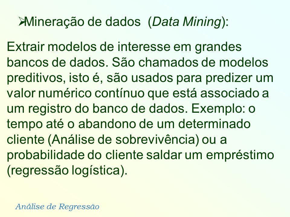 Mineração de dados (Data Mining):