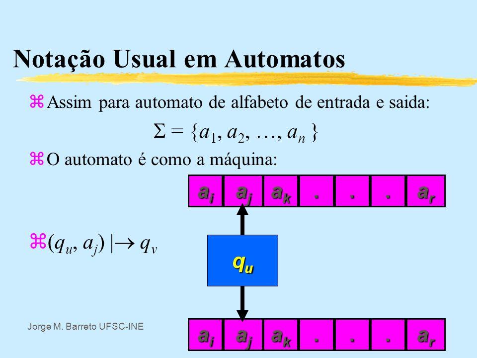 Notação Usual em Automatos