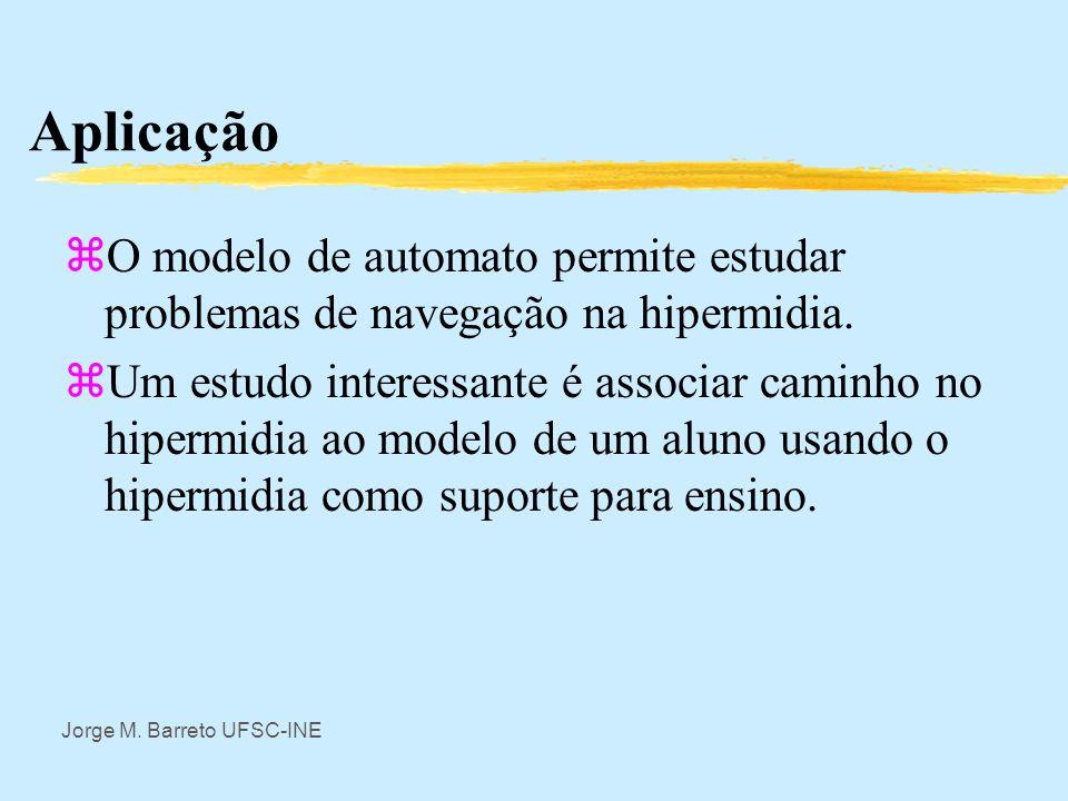 AplicaçãoO modelo de automato permite estudar problemas de navegação na hipermidia.