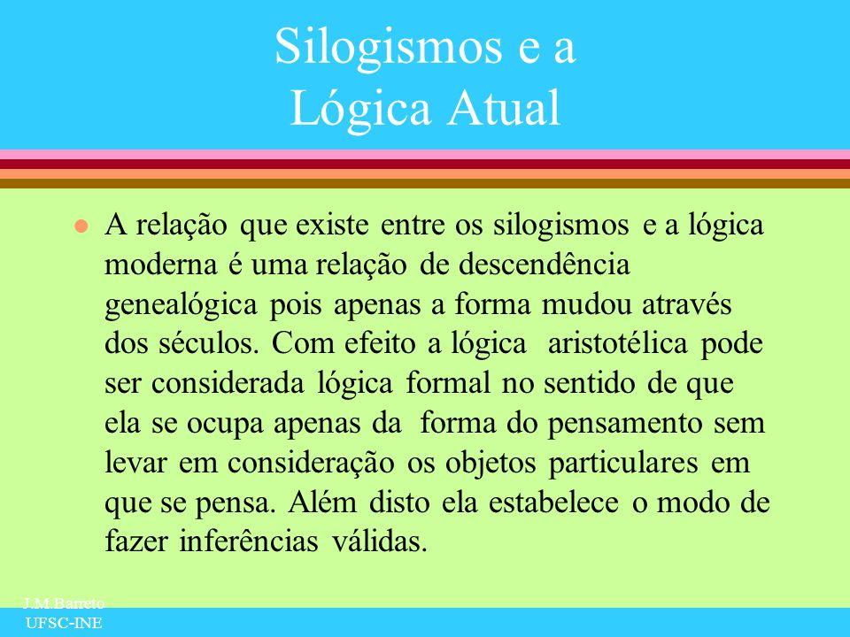 Silogismos e a Lógica Atual