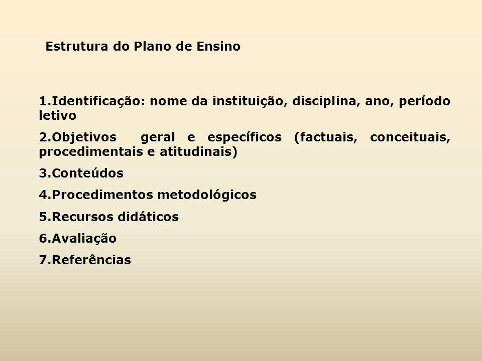 Estrutura do Plano de Ensino