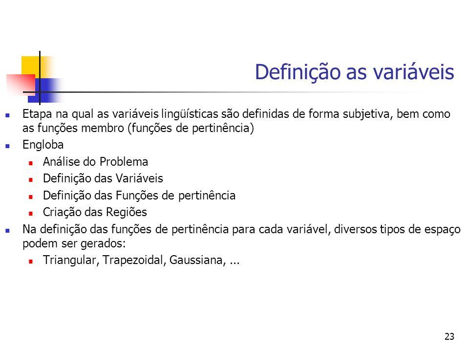 Definição as variáveis