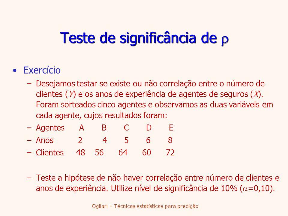 Teste de significância de 
