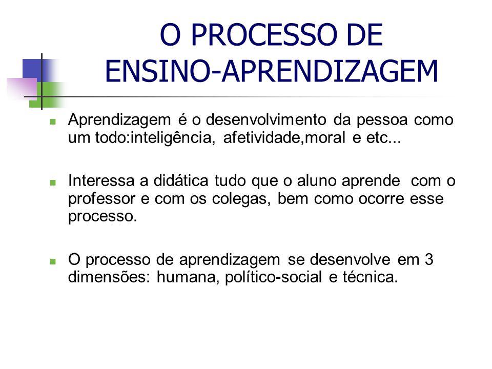 O PROCESSO DE ENSINO-APRENDIZAGEM