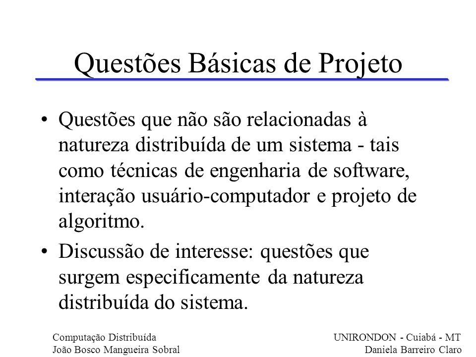 Questões Básicas de Projeto