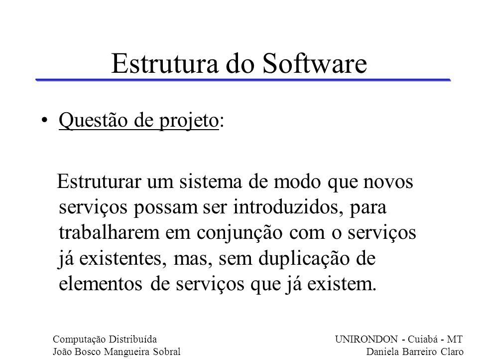 Estrutura do Software Questão de projeto:
