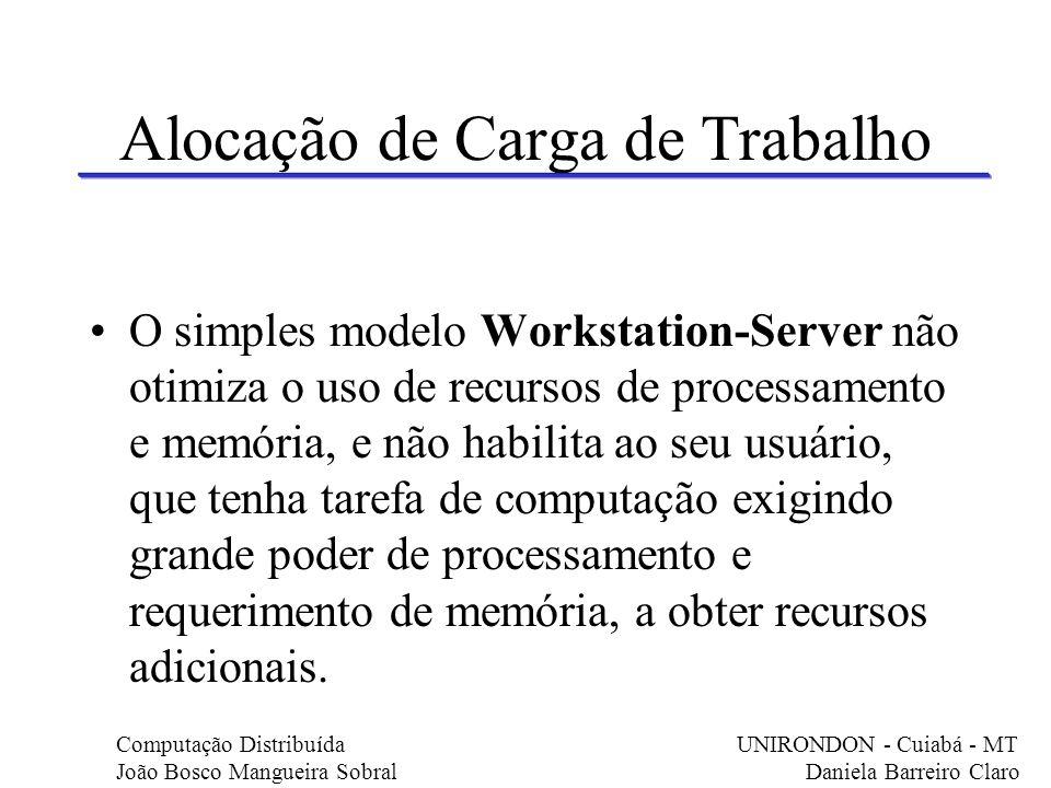 Alocação de Carga de Trabalho