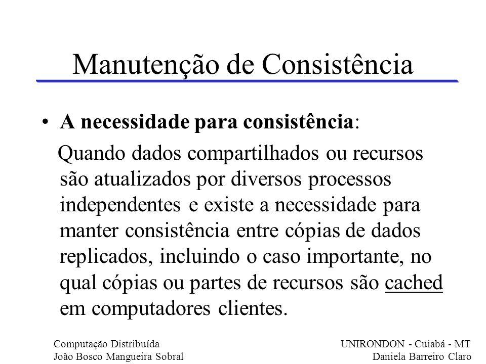 Manutenção de Consistência