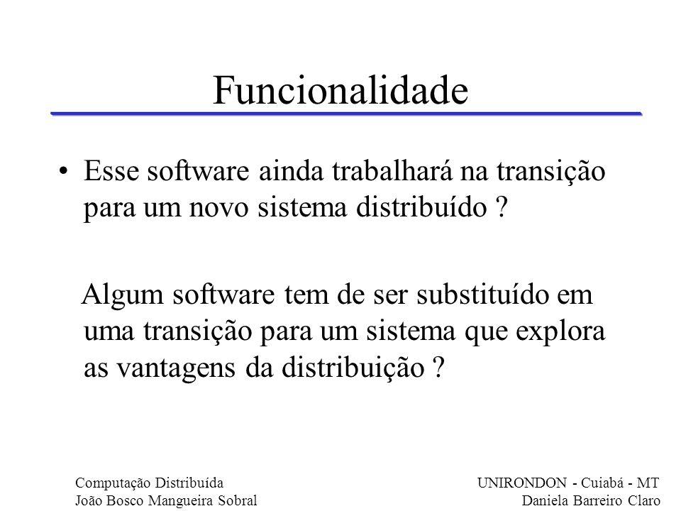 Funcionalidade Esse software ainda trabalhará na transição para um novo sistema distribuído