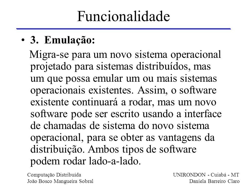 Funcionalidade 3. Emulação: