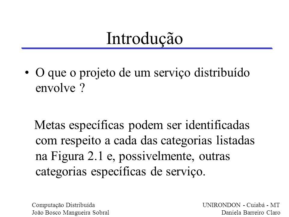 Introdução O que o projeto de um serviço distribuído envolve