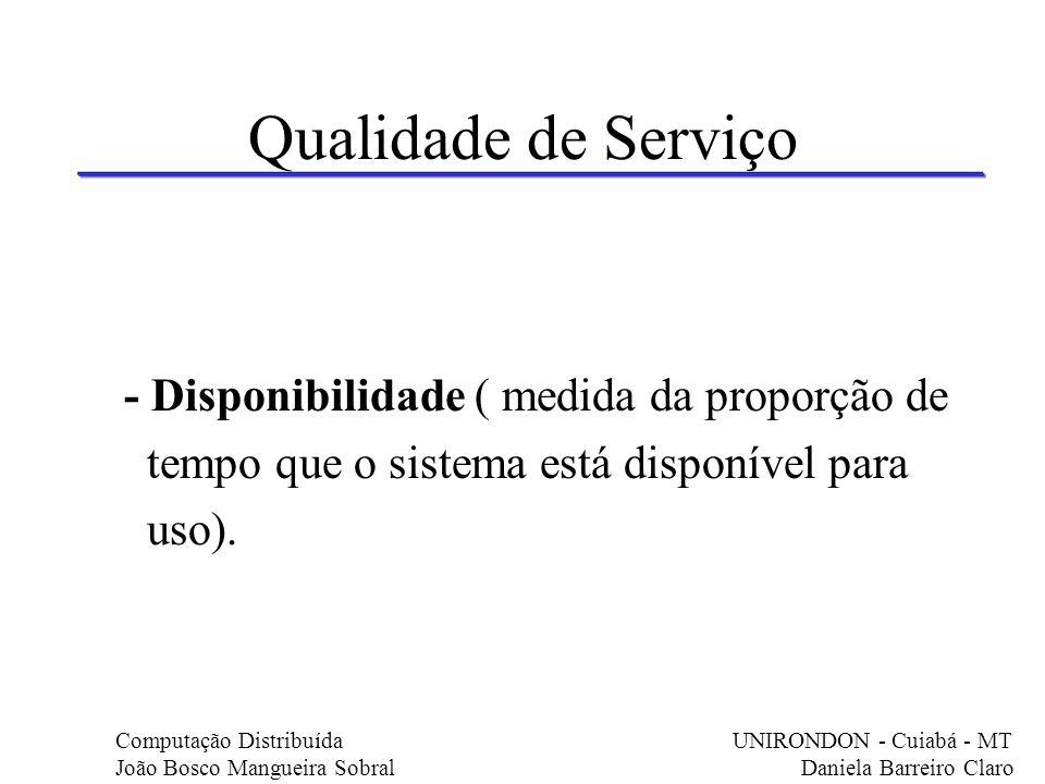 Qualidade de Serviço - Disponibilidade ( medida da proporção de
