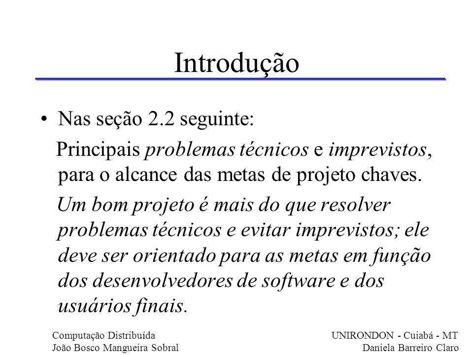 Introdução Nas seção 2.2 seguinte: