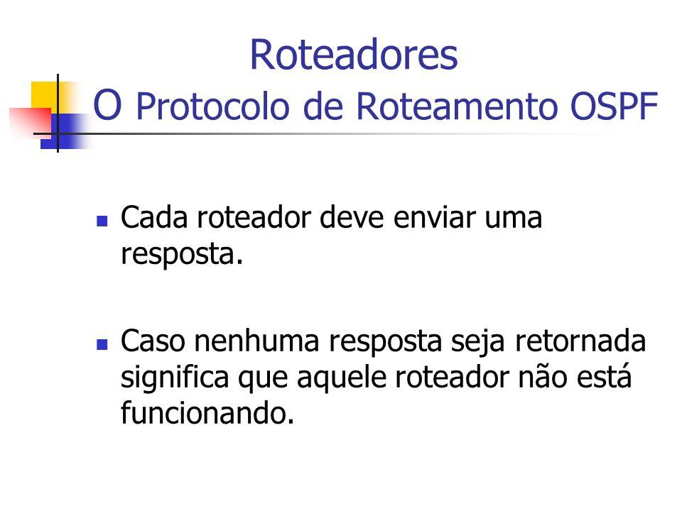 Roteadores O Protocolo de Roteamento OSPF