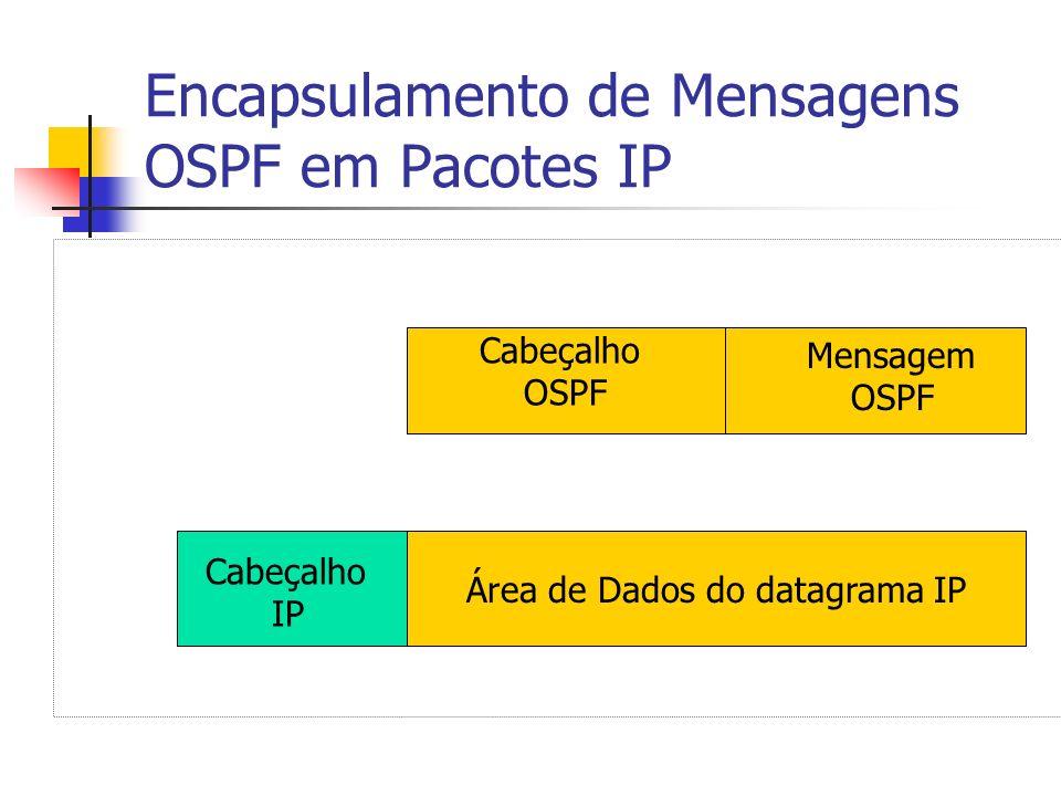 Encapsulamento de Mensagens OSPF em Pacotes IP