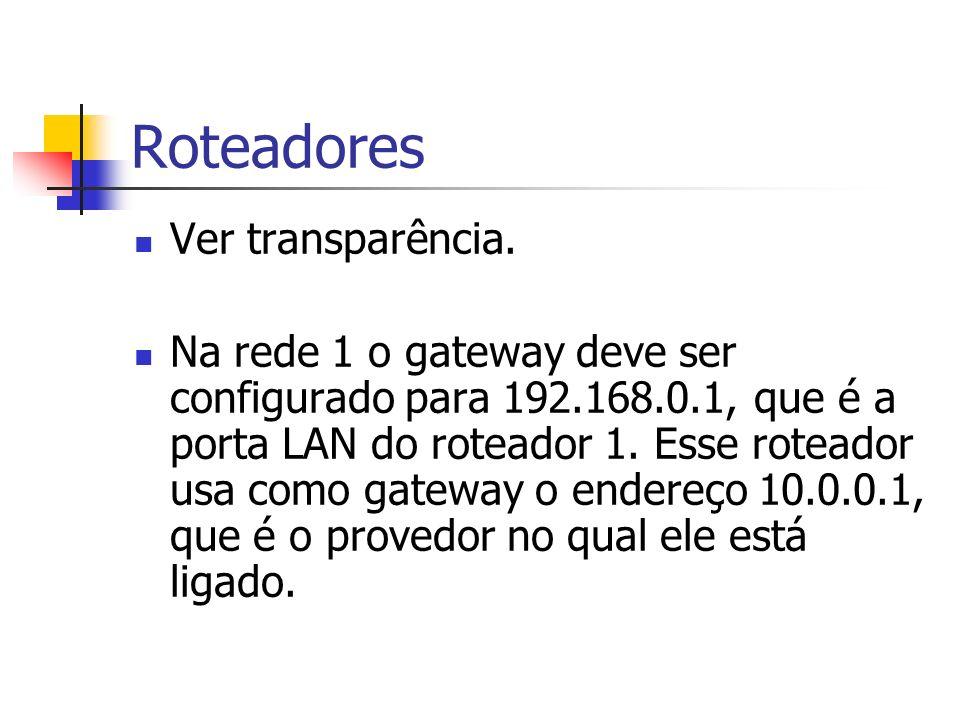 Roteadores Ver transparência.