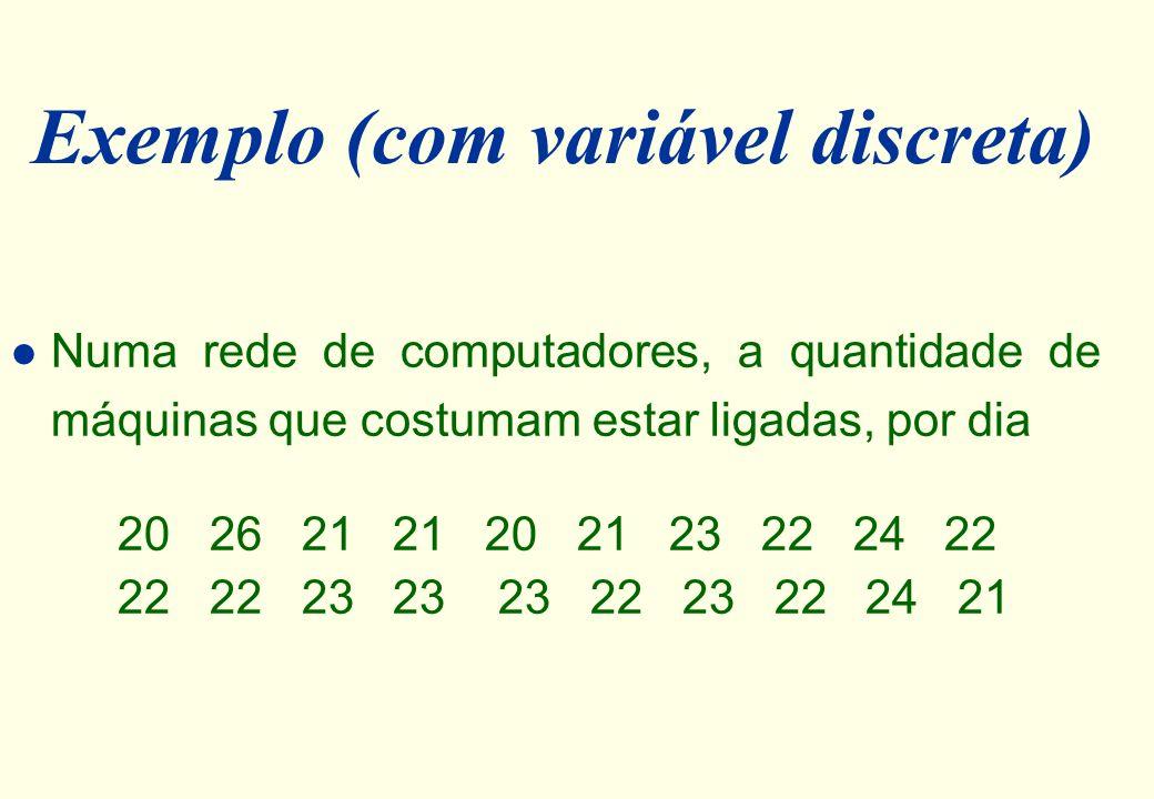 Exemplo (com variável discreta)