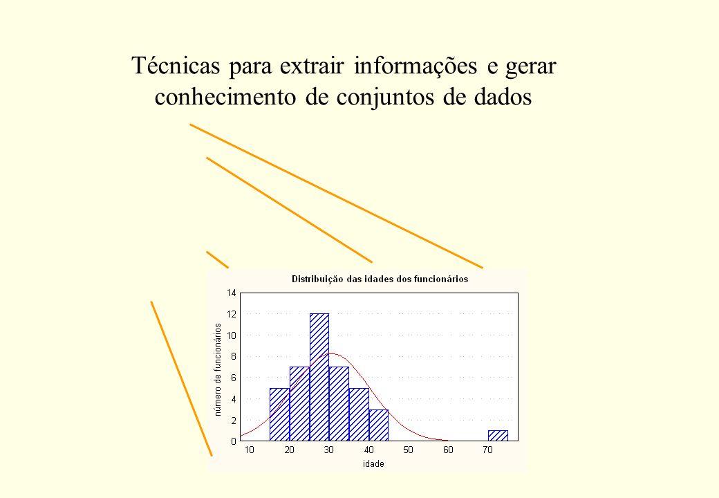 Técnicas para extrair informações e gerar conhecimento de conjuntos de dados