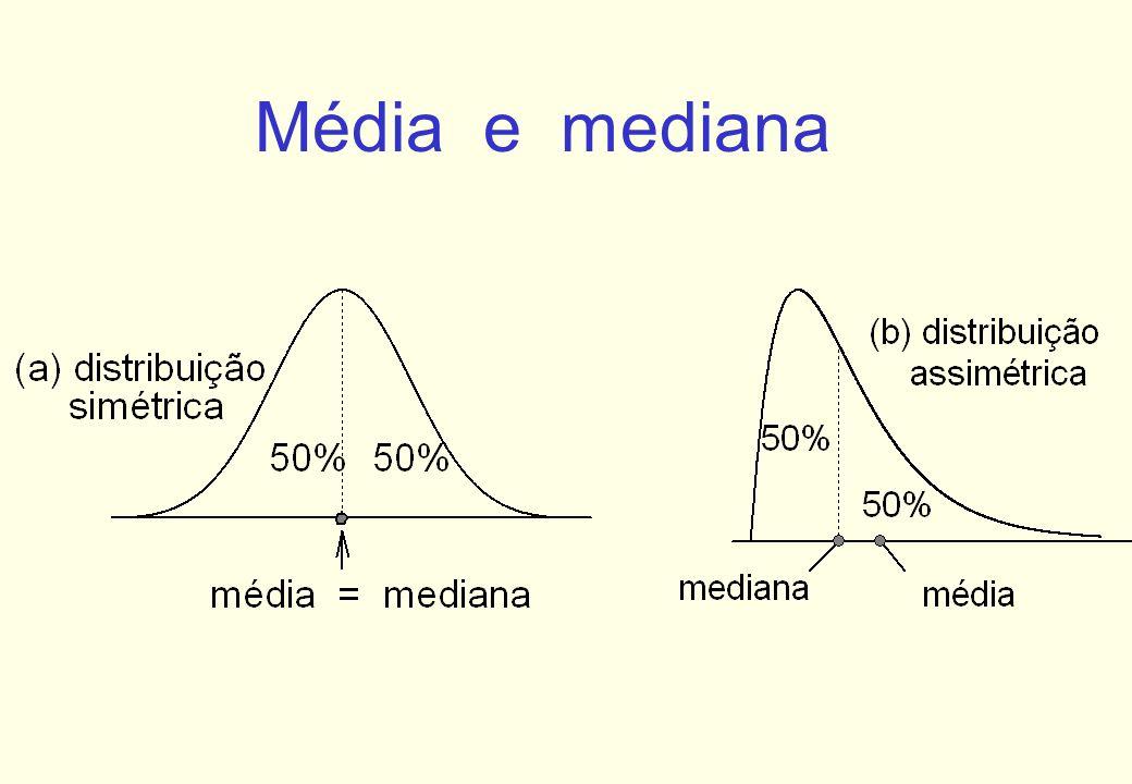 Média e mediana