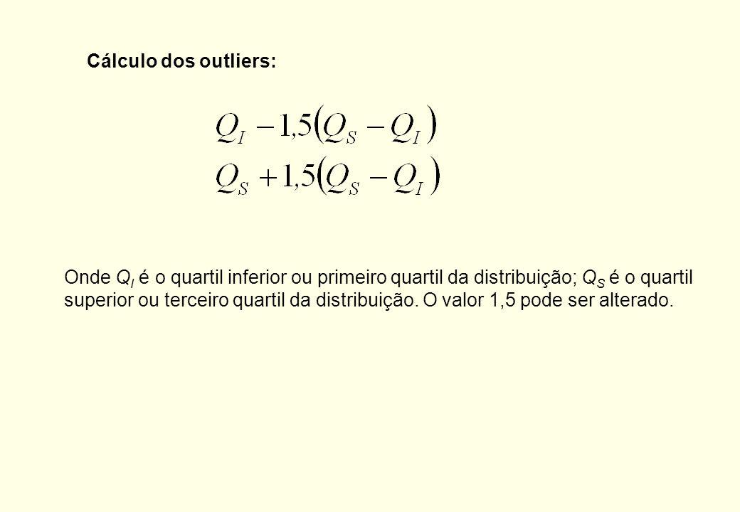 Cálculo dos outliers: