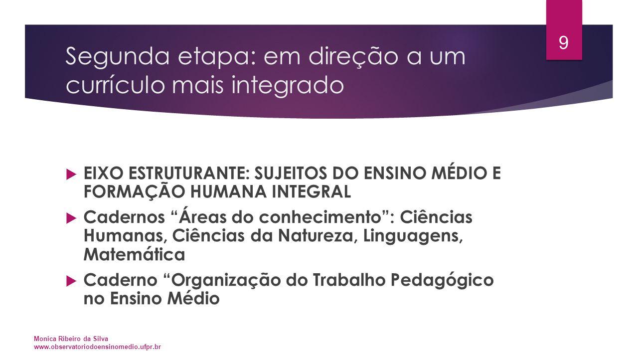 Segunda etapa: em direção a um currículo mais integrado