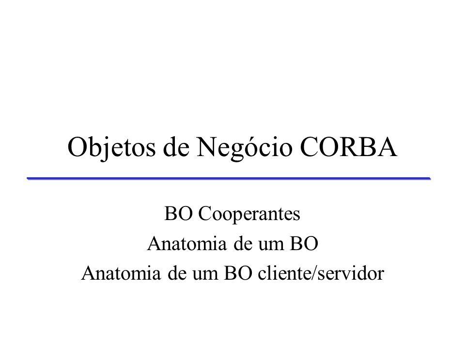 Objetos de Negócio CORBA