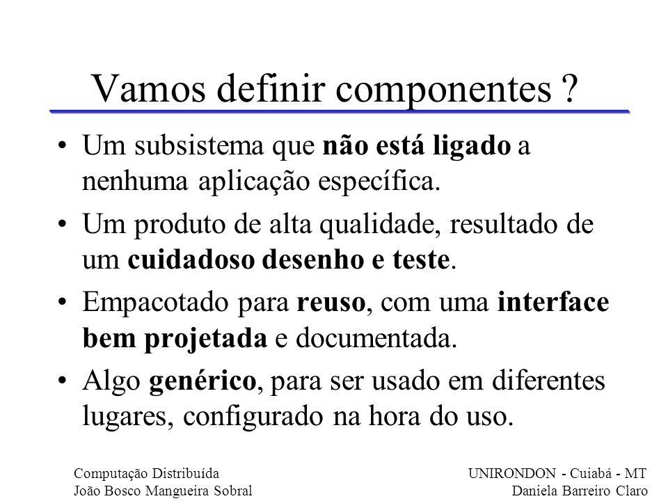 Vamos definir componentes