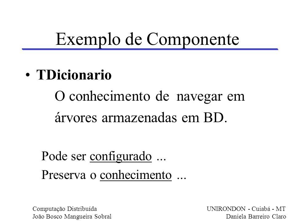 Exemplo de Componente TDicionario O conhecimento de navegar em