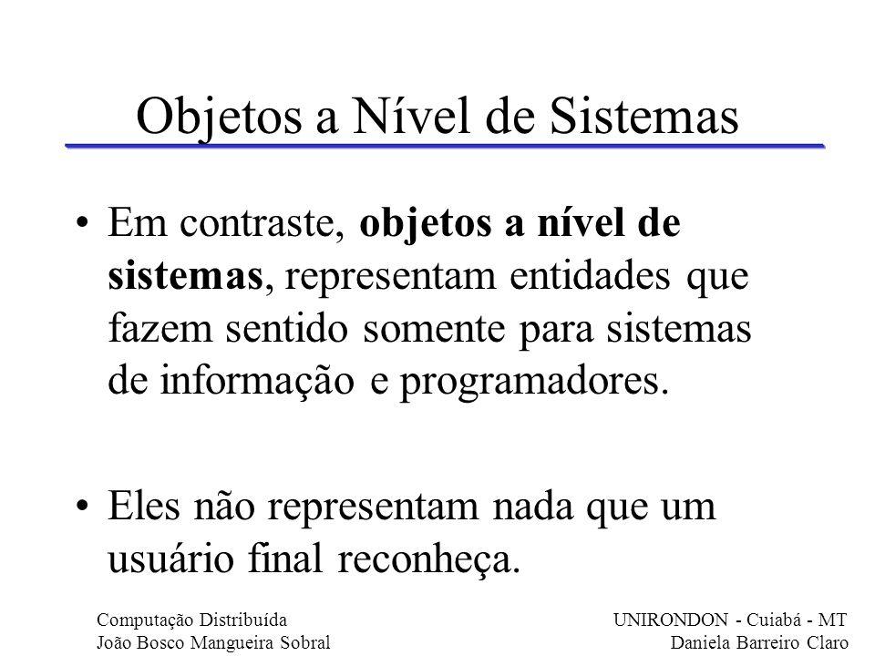 Objetos a Nível de Sistemas