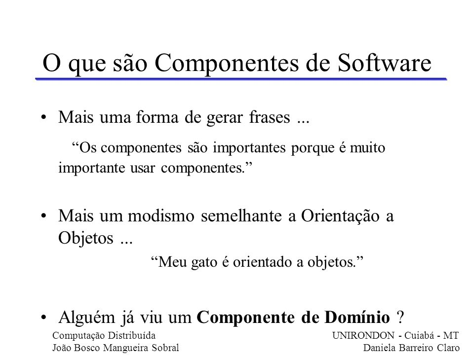 O que são Componentes de Software