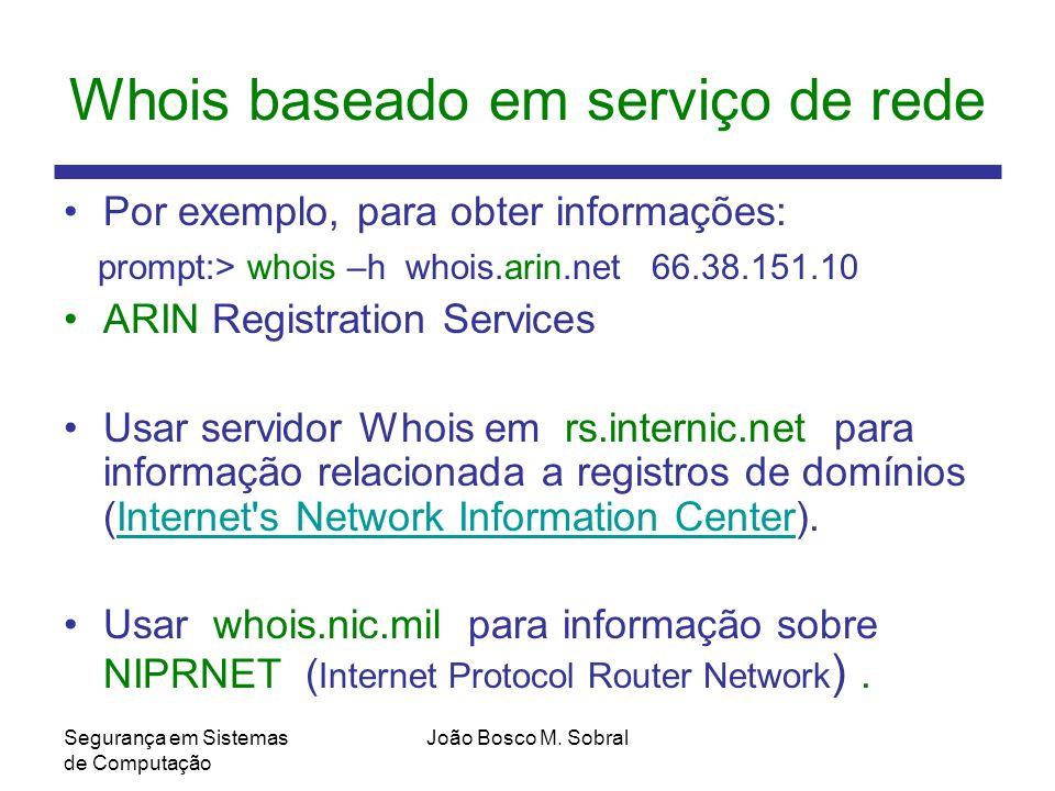 Whois baseado em serviço de rede
