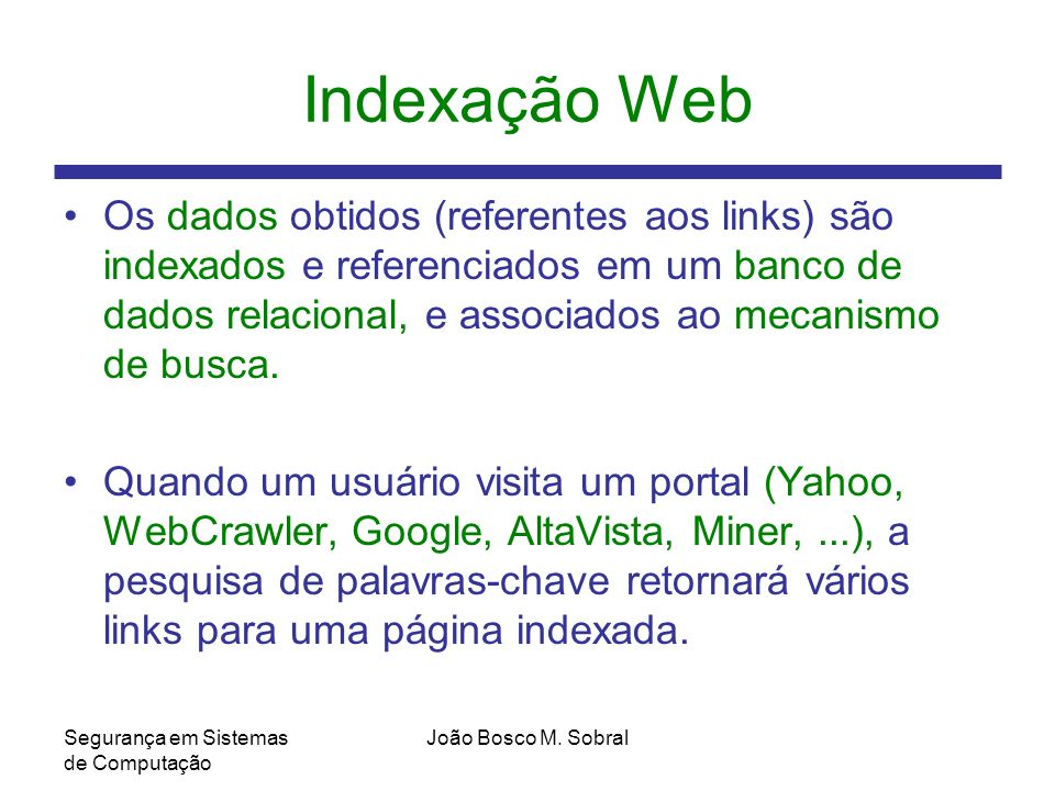 Indexação Web